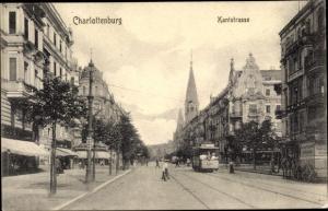 Ak Berlin Charlottenburg, Kantstraße, Straßenbahn Linie 80