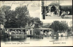 Ak Berlin Reinickendorf Hermsdorf, Restaurant Seebad