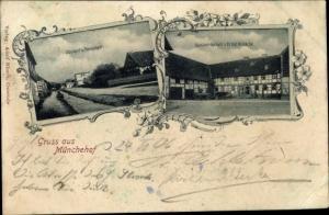 Ak Münchehof Seesen Niedersachsen, Oberdorf, Pandelbach, Gastwirtschaft