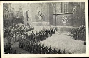 Ak Jena in Thüringen, Das Eiserne Kreuz von Jena, Nagelung