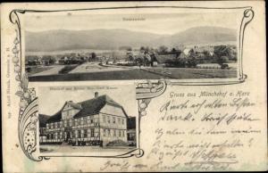 Münchehof Seesen Niedersachsen, Totalansicht, Gasthof zur Krone