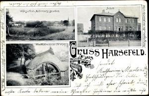 Ak Harsefeld im Kreis Stade, Schule, Alte Walkmühle