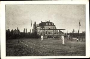 Ak Braunschweig in Niedersachsen, Tennishaus, Bürgerpark