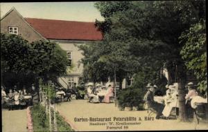 Ak Osterode am Harz, Gartenrestaurant Petershütte