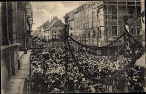 Ak Göttingen in Niedersachsen, Margeritentag 09.07.1911, Reitergruppe, Korso