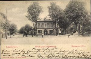 Ak Ahrensburg bei Hamburg, Manhagener Allee, Bahnhofstraße