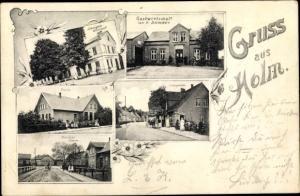 Ak Holm in Holstein, Schule, Postamt, Friedenseichen, Gastwirtschaft