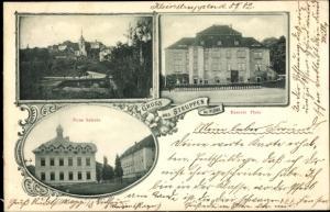 Ak Struppen in Sachsen, Neue Schule, Exerzierplatz