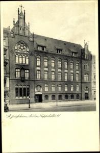 Ak Berlin Prenzlauer Berg, St Josephsheim, Pappelallee 61