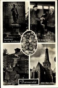 Ak Barneveld Gelderland Niederlande, Ned Herv Kerk, Op de kippenmarkt, De koop wordt gesloten