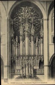 Ak Rodez Aveyron, Les Grandes Orgues de la Cathedrale