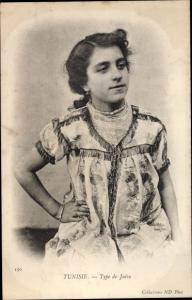 Judaika Ak Tunesien, Type de Juive, Jüdin