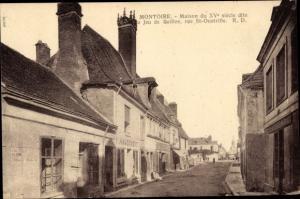 Ak Montoire Loir et Cher, Maison du Jeu de Quille, Rue Saint Oustrille