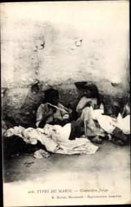 Judaika Ak Types du Maroc, Couturieres Juives, Jüdinnen