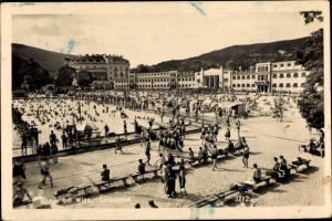 Ak Baden bei Wien in Niederösterreich, Strandbad