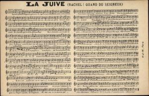 Judaika Lied Ak La Juive, Rachel, Quand du Seigneur