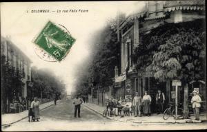 Ak Colombes Hauts de Seine, La rue Felix Faure