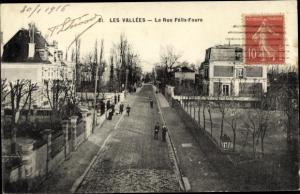 Ak Les Vallées Hauts de Seine, La Rue Félix Faure
