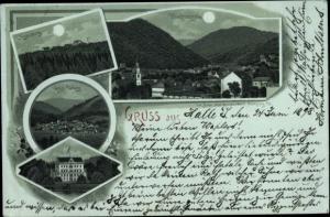 Mondschein Ak Friedrichroda im Thüringer Wald, Inselsberg, Großer Tabarz, Reinhardsbrunn