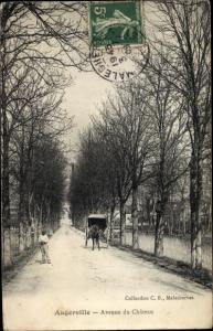 Ak Augerville Loiret, Avenue du Château