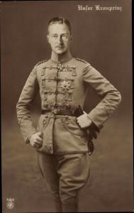 Ak Kronprinz Wilhelm von Preußen, Portrait, Husarenuniform