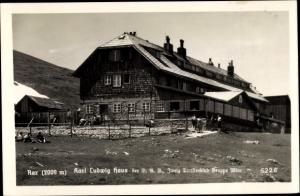Ak Bergmassiv Rax Niederösterreich, Karl Ludwig Haus