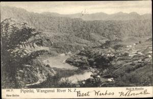 Ak Wanganui Manawatu Wanganui Neuseeland, Pipiriki, River, Panorama