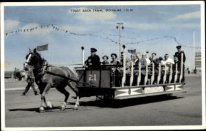 Ak Douglas Isle of Man North West England, Toast Rack Tram