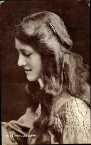 Ak Schauspielerin Phyllis Dare, Portrait
