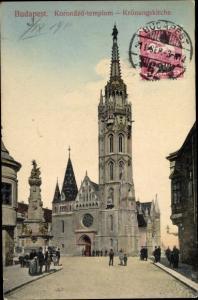 Ak Budapest Ungarn, Krönungskirche