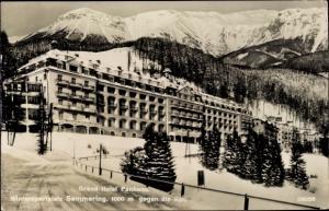 Ak Semmering in Niederösterreich, Grand Hotel Panhans, gegen die Rax