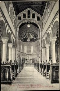 Ak Pola Pula Kroatien, Interieur der Marine Kirche