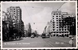 Ak București Bukarest Rumänien, B- dul Bratianu