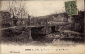 Ak Beynes Yvelines, Le Pont Barra, Le Gue de la Mauldre