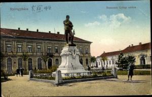 Ak Nyiregyhaza Birkenkirchen Ungarn, Bessenyei Gyorgy szobra