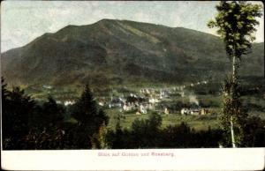 Ak Goldau Arth Kanton Schwyz, Blick auf Rossberg