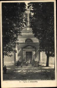 Ak Chevilly Loiret, L'Eglise