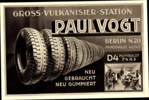 Ak Berlin Mitte, Vulkanisierstation Paul Vogt, Prinzenallee 42, Autoreifenverkauf