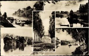 Ak Neuilly sur Seine Hauts de Seine, Courtevoie, Puteaux, Bords de Seine