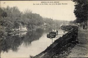 Ak Neuilly sur Seine Hauts de Seine, Bords de la Seine, Vue prise du Quai Bourdon