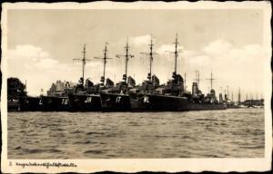Ak II. Torpedobootshalbflottille, deutsche Kriegsschiffe