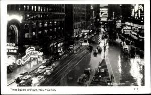 Ak New York City USA, Time Square by Night