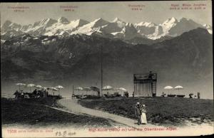 Ak Rigi Kulm Kanton Schwyz, Oberländer Alpen, Finsteraarhorn, Schreckhorn, Wetterhorn, Eiger, Mönch