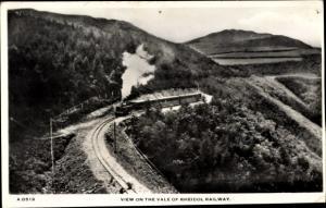 Ak Wales, View on the Vale of Rheidol Railway, britische Eisenbahn, Dampflok