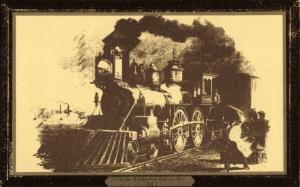 Ak Chicago Burlington and Quincy Railroad, Amerikanische Eisenbahn, Dampflok
