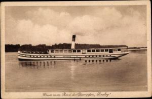 Ak Berlin, Salondampfer Loreley, Reederei Klempin u. Seel, An der Stralauer Brücke 7