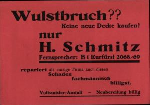 Ak Vulkanisier Anstalt H. Schmitz, Neubereifung bei Wulstbruch