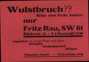 Ak Vulkanisier Anstalt Fritz Rau, Neubereifung bei Wulstbruch