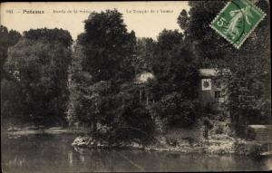Ak Puteaux Hauts de Seine, Bords de la Seine, Temple de l´Amour