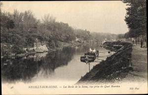 Ak Neuilly sur Seine Hauts de Seine, Les Bords de la Seine, pris du Quai Bourdon